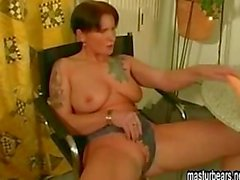 Intense dildo solo tattoo girl Judith
