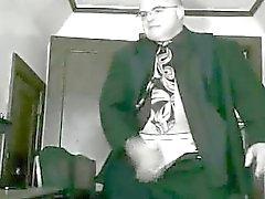 Suit tie boss gets pissed pulls his pud. HOT!