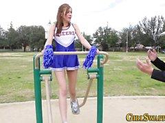 Stepteen cheerleaders
