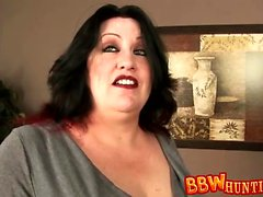 Mature BBW gets a Bit Naughty