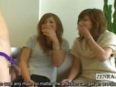 Ondertiteld Japanse CFNM phimosis masturbatie partij