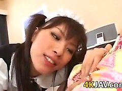 Japanese Maid In A Threesome