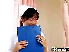 Sleeping asian nurse