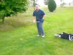 Straight Golfer Shows his HARD cock to Buddy on Golf Course. Nice cock!