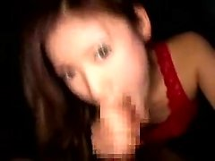Sensuous Japanese babe with tiny boobs has two guys sharing
