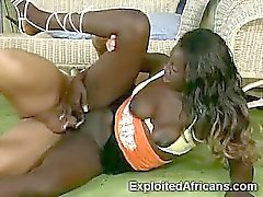White stud unleash his fury with a horny African woman