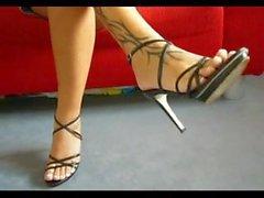 Amateur Heel Feet Teasing & HeelFucking Pussy - LoversHeels@Pornhub