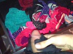 Largest cumshot on panty drawer yet!!