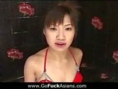 Asian Chick double fucked