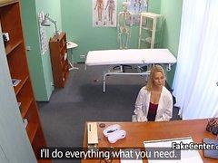 Blonde nurse got fucked by doctor