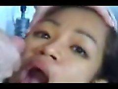 étudiante Monica Tagalog amateurs grande salve âne , Jizz dans la bouche