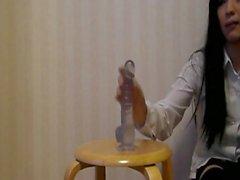 Asian Crossdresser Cosplay Dildo Squirt