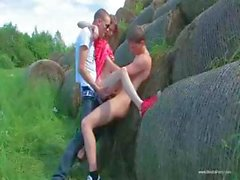 Beata Double Penetration In Nature