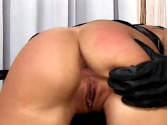 pleasing fetish anal actions with latex and bdsm