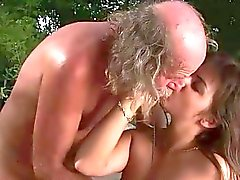 Teen fucking with ugly old man