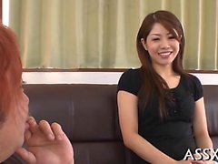 Japanese honey acquires wild fingering in a public bus