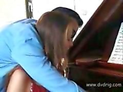 Amazing European Teen Pays Her Piano Lessons In Nature Letting Her Teacher Abuse Her Tight Virgin Pussy