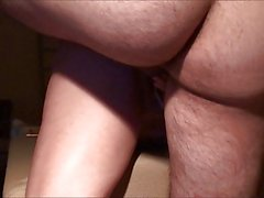 Fucking Wife doggy with anal toy