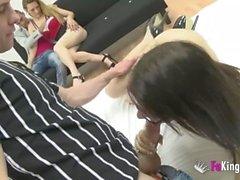 Birthday surprise! Briseida takes her boyfriend to a foursome!!