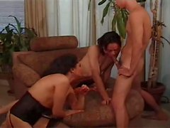Allenina in threesome with guy and girl