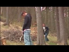 Cute Threeboy Quickie in the Woods