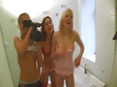 french serious dildo testing on toilet
