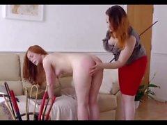 Lesbian Caning