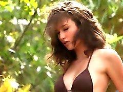neat brunette and outdoor masturbation