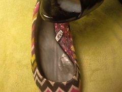BCBGs Heels & then spread cum on Katie's TOMs Shoes & Flats