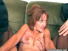 Pierced mature pussy feeling pain