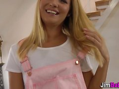 Euro teen rides old dick