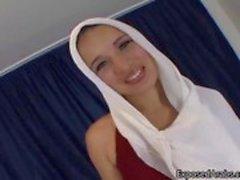 Arab slampa visar hennes fina naturliga