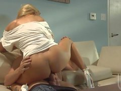 Lovely Jessica Drake takes it up her tight pussy