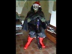 Ho! Ho! Ho! Merry Xmas in rubber.