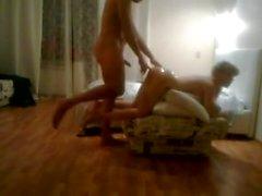 AMWF White girl used & filmed by Arabic man