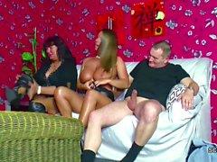 Older German Couple Seduce Big Tit Teen to Fuck in Threesome