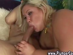 Chick with massive tits gives russian