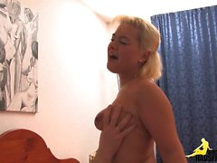 Blonde milf for a old guy
