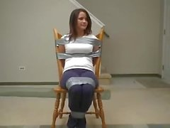 AES Girl Taped To The Chair