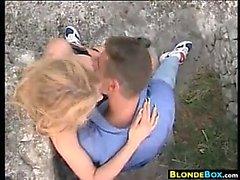 Blonde Slut Having Sex Outside