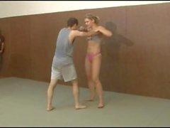 viktoria dominates her wimpy opponent