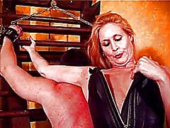Slave dude bound & spanked by mistress Amberle