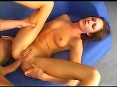 Dog pose for hard anal sex