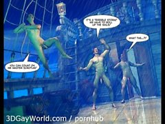 ADVENTURES OF CABIN BOY 3D Gay World Cartoon Comics or Gay Hentai Anime