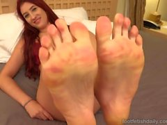 Addison Ryder Receives A Cumshot On Her Pretty Feet