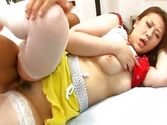 Ai Yuumi has her pussy eaten and pounded