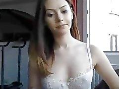 Действительно горячей подросток Вебкамера девушки Хвастается