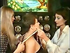Retro Lesbians Playing In Home