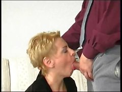 Blonde MILF Drilled In Her Black Pantyhose