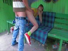 Nostra prima sessuale giardino di sulla stazione degli autobus